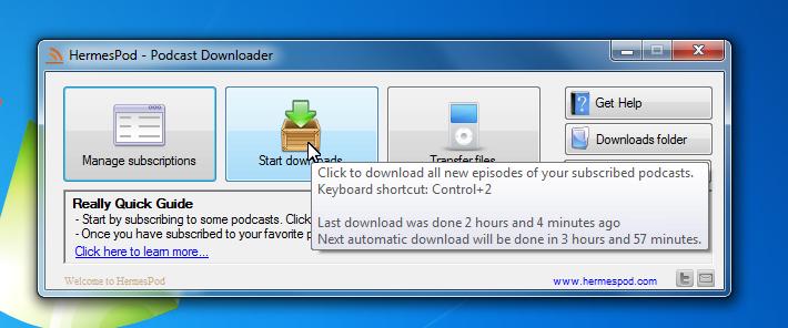 Hermespod Podcast Downloader